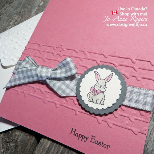 make a cute bunny rabbit easter card