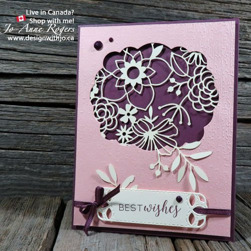 beautiful cardmaking with Stampin Up Delightfully Detailed laser cut paper