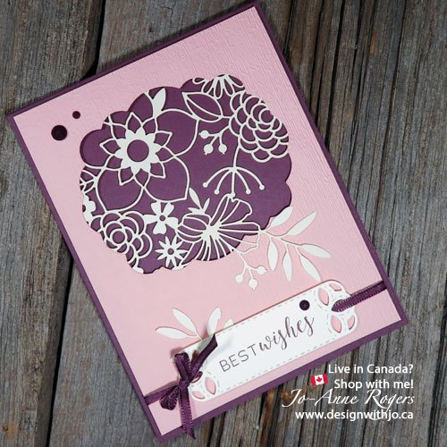 cardmaking with Stampin Up Delightfully Detailed laser cut paper