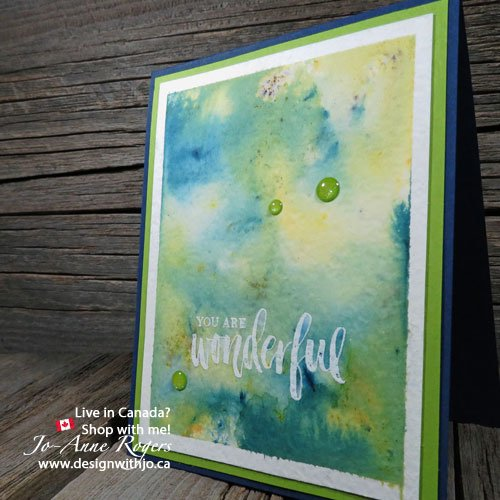 How To Emboss Brusho Crystal Watercolour Backgrounds