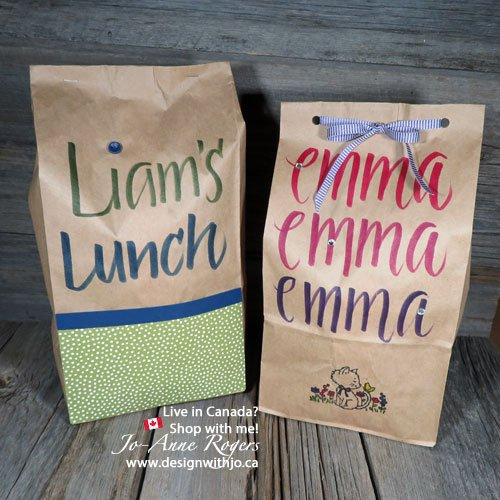 fun up lunch hour with lettering your kids lunch bags for school