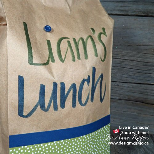 start lettering your kids lunch bags for school