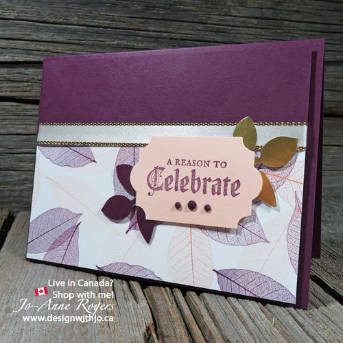 quick and easy leaf print greeting cards