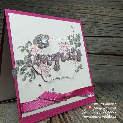 handmade congratulations card with the colour your season bundle