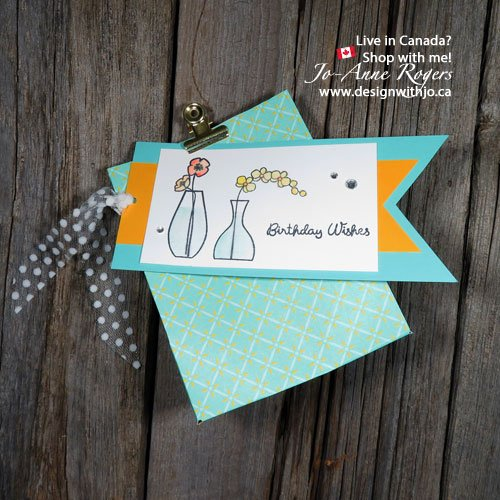 Stampin Up Varied Vases Watercolored Gift Bag Tags