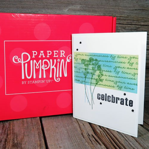 making alternative paper pumpkin cards