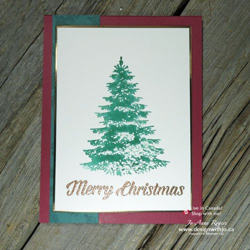 Pretty Christmas Card Heat Embossing Ideas