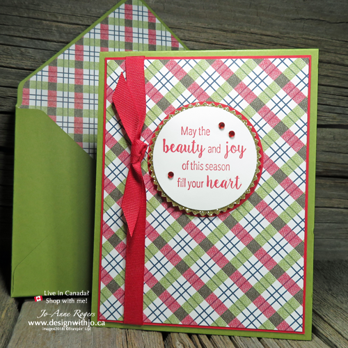 TOTAL Coordination when You Make an Envelope Liner with the Envelope Punch Board