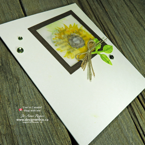 I absolutely LOVE using vellum in card making