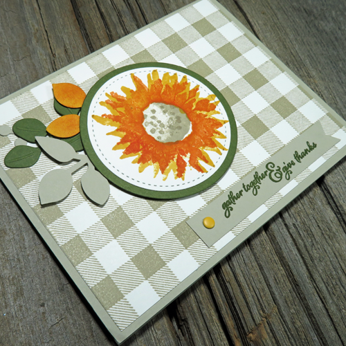 I LOVE this stamped and die-cut handmade autumn card