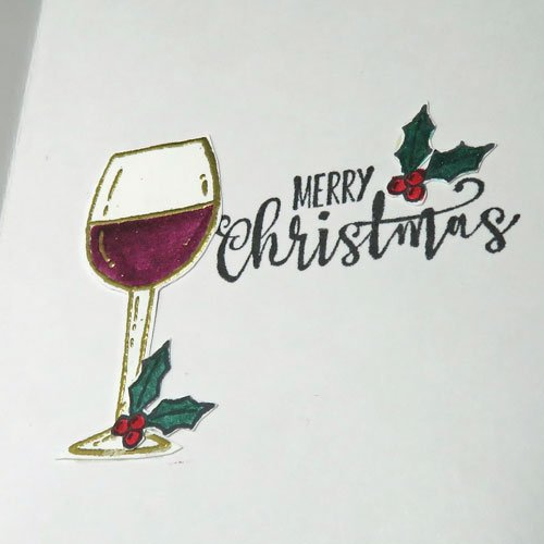 Stamping & Embossing Christmas Cards