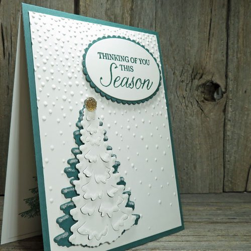 Make Snow When You Decorate Cards with Craft Glitter