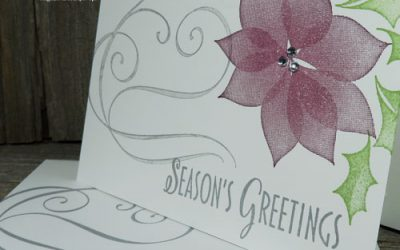 Simple Two Step Stamping Christmas Card