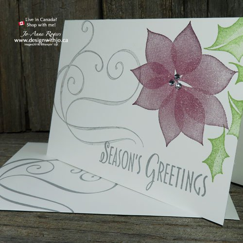 Simple Two Step Stamping Christmas Cards