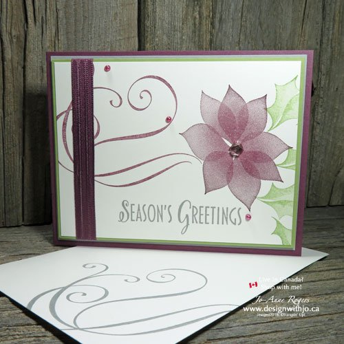 What's not to LOVE about Simple Two Step Stamping Christmas Cards?