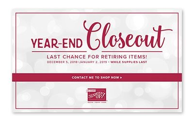 Year End 2018 Closeout Sale