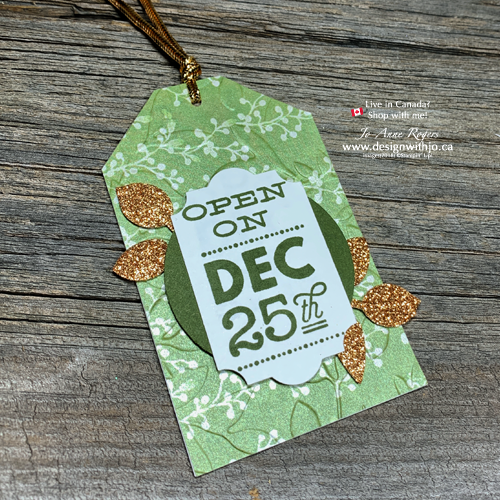 Oh So Pretty Last Minute Gift Tags by Embossing Patterned Paper