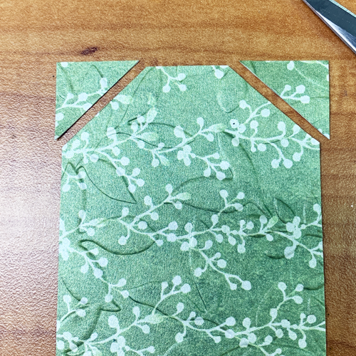 Last Minute Gift Tags by Embossing Patterned Paper