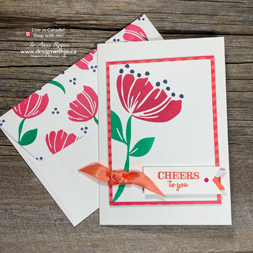 Make A Simple Birthday Card With The Bloom By Stamp Set Design Jo