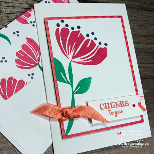 Make a Simple Birthday Card with the Bloom by Bloom Stamp Set with Design With Jo