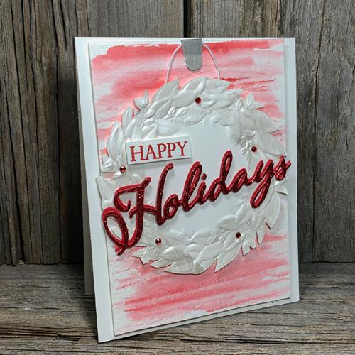 Seasonal Wreath Card Idea to Make