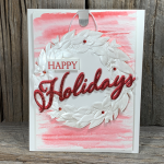 Seasonal Wreath Card Idea to make for the Holidays