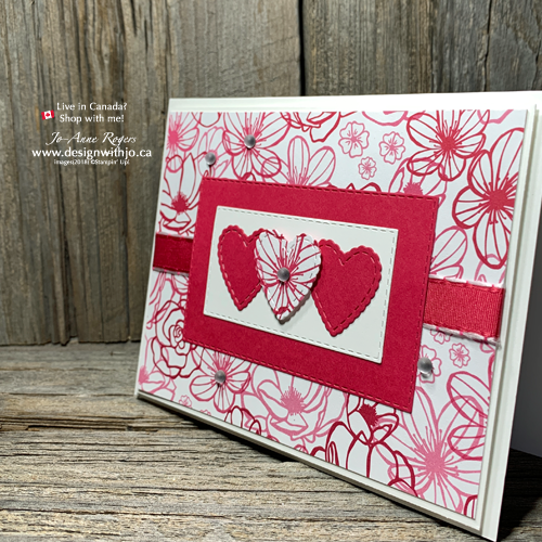 Card Making Ideas with Scrapbook Paper and Be Mine Framelits