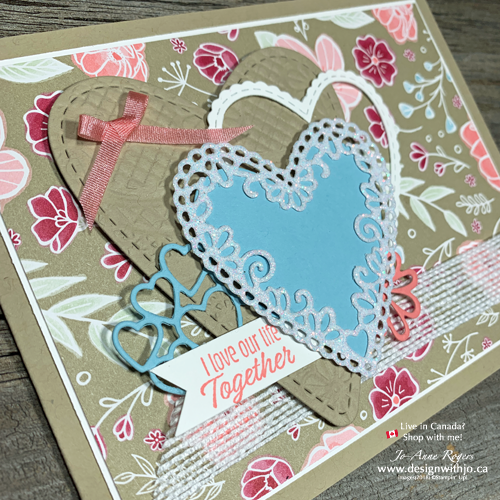 Collage Valentines with Cut Out Heart Shapes for Card Making