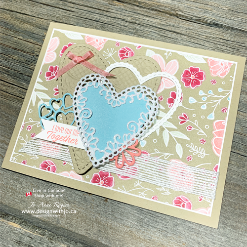 I LOVE Cut Out Heart Shapes for Card Making