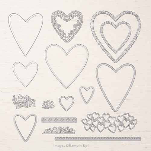 Collage Cut Out Heart Shapes for Cardmaking