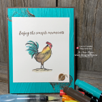 Watercolouring with Markers for Rubber Stamping Projects