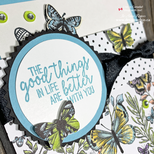I LOVE This Simple Pocket Fold Card Made with Botanical Butterfly DSP!