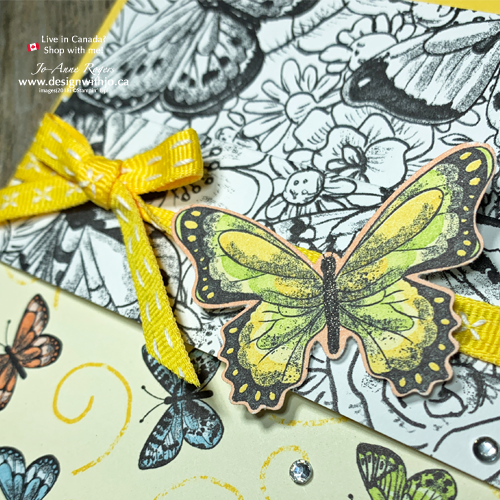 Simple Pocket Fold Card with Botanical Butterfly DSP