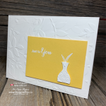 Use Vibrant Vases for Simple Triple Embossed Handmade Cards