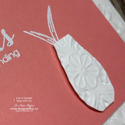 I LOVE These Simple Triple Embossed Handmade Cards with Vibrant Vases
