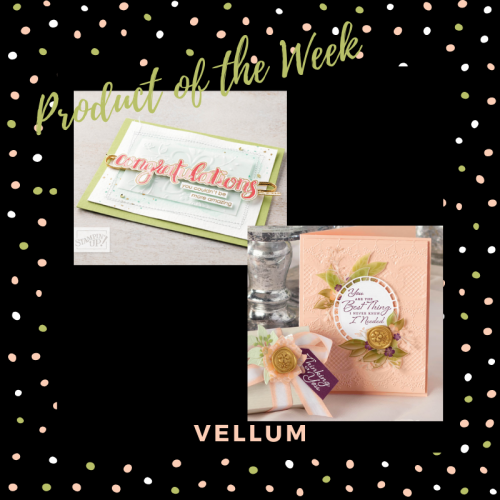 How to Stick Cardstock to Vellum