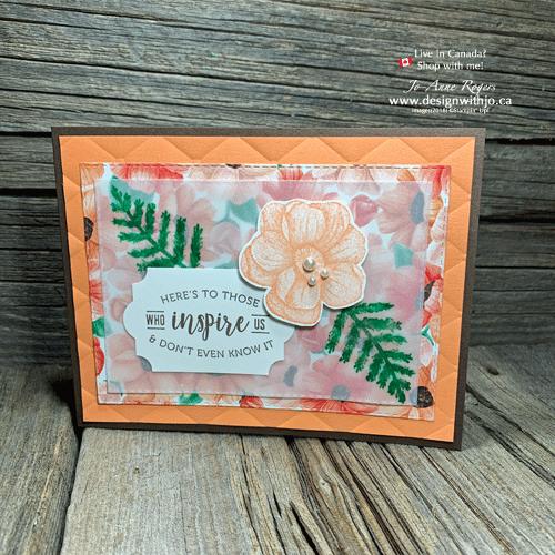 Stampin Up Painted Seasons Handmade Card