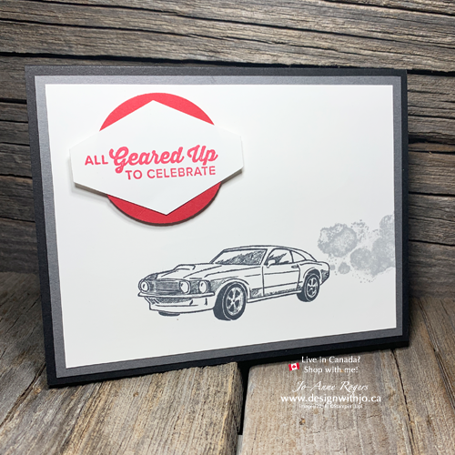 Quick & Easy Cards for Men with Garage Gears Stamps from Stampin Up!