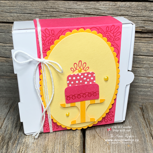 Make A Matching Gift Box for A Cute Birthday Cards for Friends