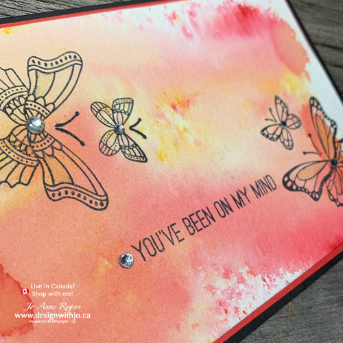 I LOVE these Brusho Backgrounds for Card Making that's Quick and Easy with Butterfly Gala stamps