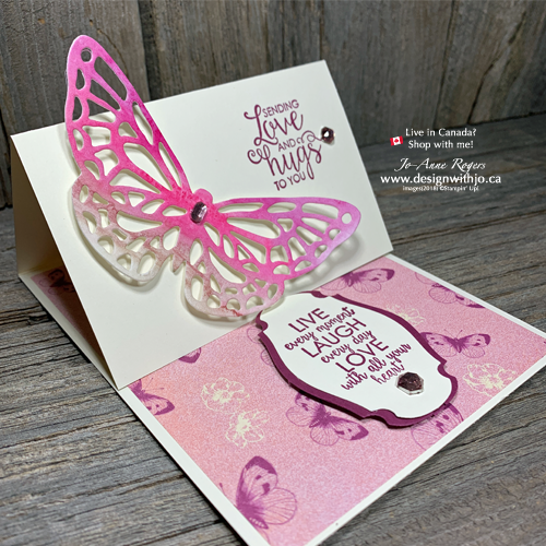 FB LIVE Easel Card with Butterfly Cutout that's Quick & Easy with Watercolour Pencils