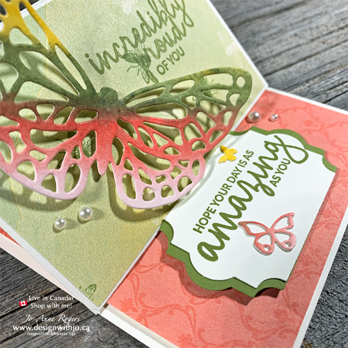 I LOVE LOVE this Watercolour Easel Card with Butterfly Cutout