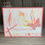 I LOVE How EASY This Emboss Resist Stamping Technique is with the Marbled Background and Butterfly Gala stamps from Stampin Up
