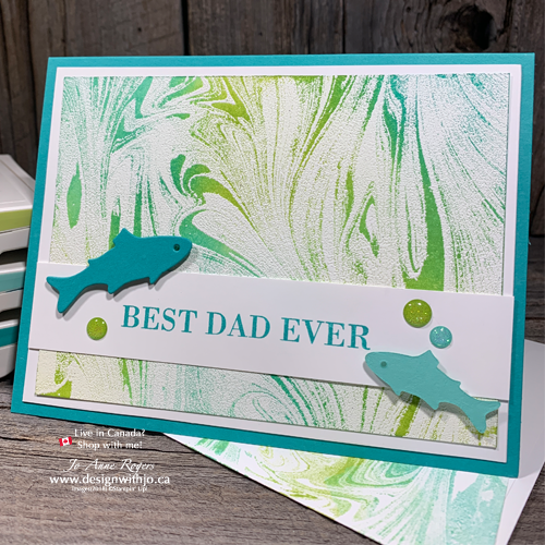 Learn This Emboss Resist Stamping Technique with Marbled Background Stamp from Stampin Up