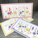 Gorgeous Spring Handmade Eclipse Cards with Large Letter Framelits