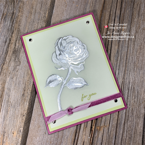 VIDEO Tutorial for How to Dry Emboss Vellum with Stampin Up and Graceful Garden