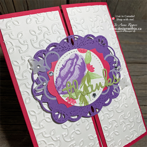 Make a Thank You Card with Paper and an EASY Gatefold Closure