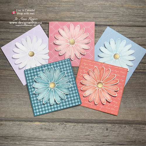 Look How Pretty These New 2019-21 In Color Daisy Lane Notecards Are From Stampin' Up!
