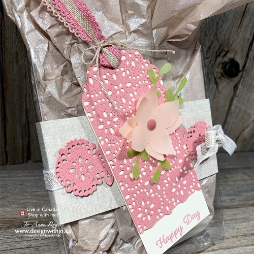 Decorate I LOVE to Acetate Gift Boxes with Stitched Lace Dies