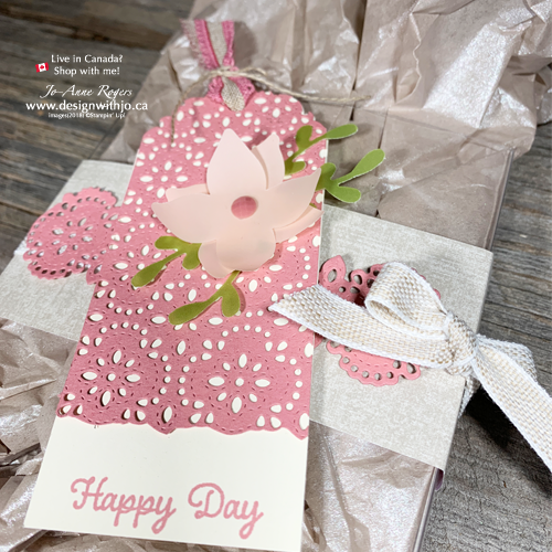 Oh SO PRETTY Decorate Acetate Gift Boxes with Stitched Lace Dies
